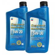 CHEVRON SUPREME MOTOR OIL SAE 5W20, 5W30, 10W30, 10W40, 20W50