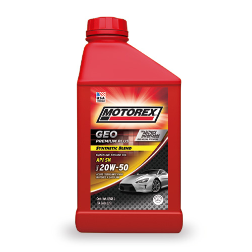 MOTOREX GEO PREMIUM PLUS SYNTHETIC BLEND SAE 20W50