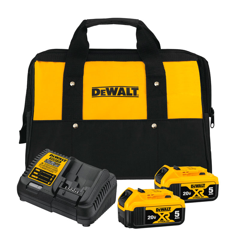 DEWALT DCB205-2CK – Kit inicial 2 baterías 5ah 20V max en ion de litio + cargador